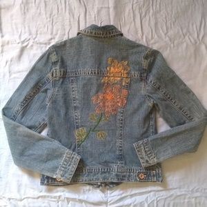 Department of Peace Beaded Denim Jacket S